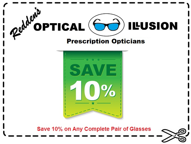 10% off complete pair of glasses